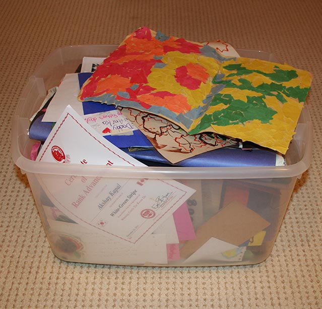 box of overflowing art